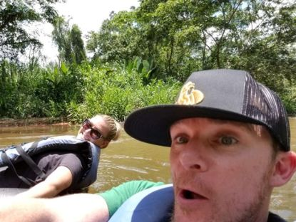 Nuwud Trucker Hat - Innertubing Rivers of Belize