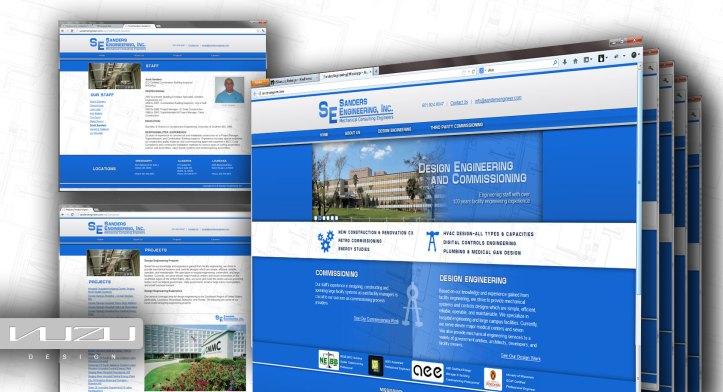 Sanders Engineering Website Design