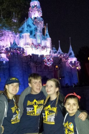 Student Council officers at Disneyland