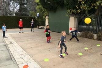 1st grade playing dodgeball