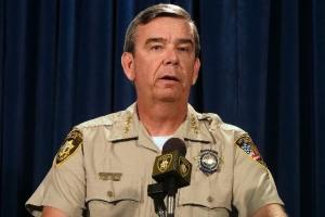 Sheriff Gillespie announcing that the final week of Roston's 8 month vacation will be unpaid.