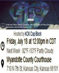 "The ""Chalk the Police State"" flyer for Kansas City, Kansas"
