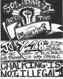 """Las Vegas Flyer for the 2nd Annual """"Chalk the Police State"""" event."""