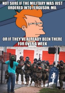 Ferguson Militarized Police