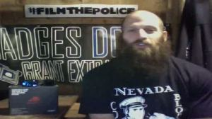 Pete Eyre Wearing a Nevada Cop Block Shirt