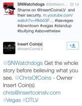 Insert Coins Twitter Response