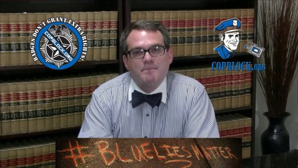 Stephen Stubbs Bowtie Blue Lies Matter Truth