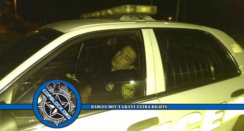 Belleville NJ Cop Sleeping Patrol Car