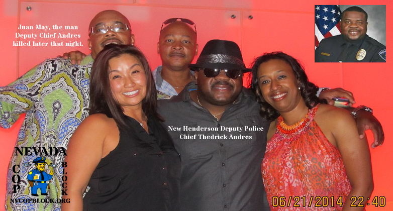 Newly hired Henderson NV Deputy Chief of Police Thedrick Andres shot Juan May during an off-duty incident while he was a sergeant at the Arlington Police Department in Texas