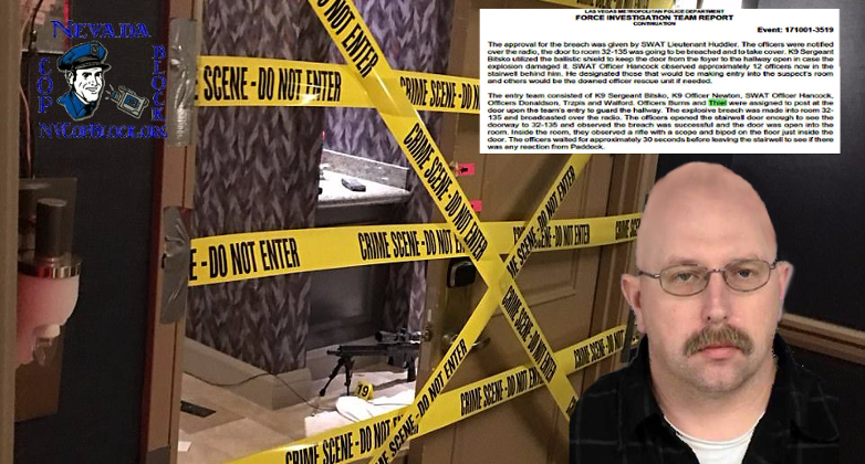 One of the officers assigned to guard Stephen Paddock's door after they (finally) entered his room was Officer Bret Theil