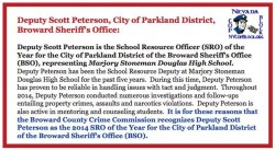 Parkland School Resource Officer of the Year Scot Peterson