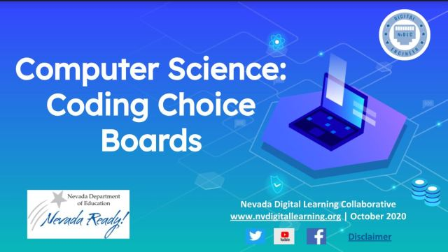 picture of CS coding choice boards