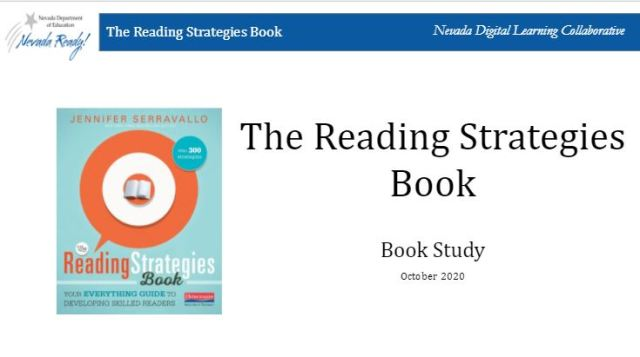 picture of reading strategies book