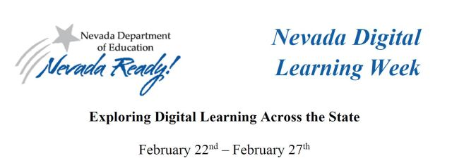 logos and title for nevada digital learning week