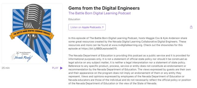 picture of the podcast page