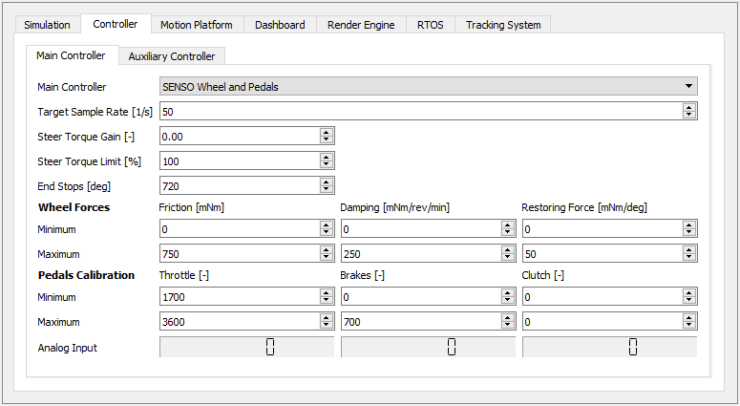 Main Controller Screenshot