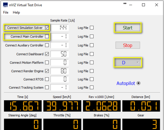 Operating VTD Server Screenshot
