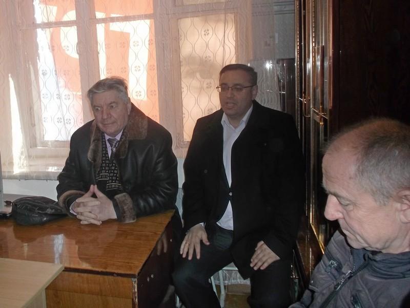 В. Алкснис и Первый секретарь обкома КПРФ Оренбургской области М. Амелин