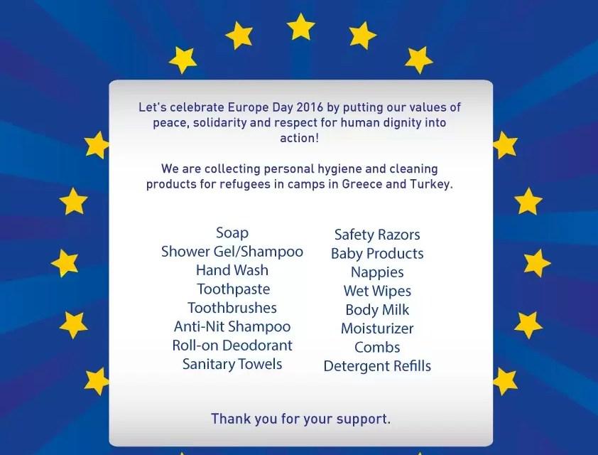 Inzamelingsactie rond Dag van Europa