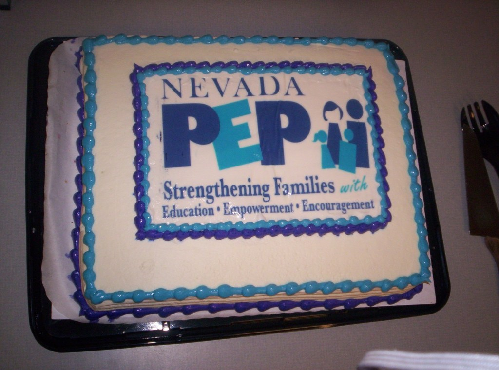 The newest logo as seen printed on a cake