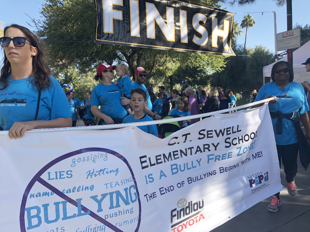 C.T. Sewell Elementary School participating in the Run Walk Roll event