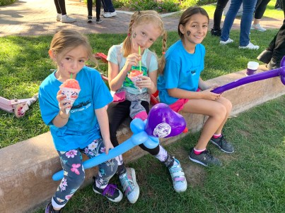 Three children at a Nevada PEP event