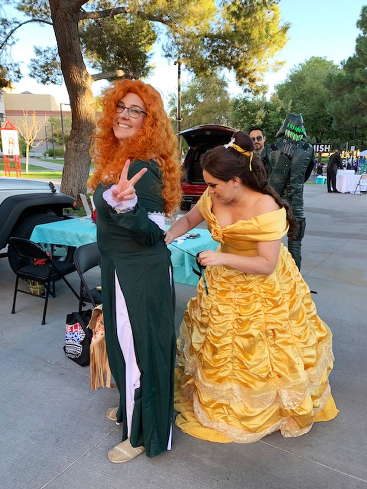 People dressing up like Disney Characters