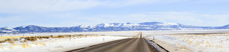 Nevada Road in winter