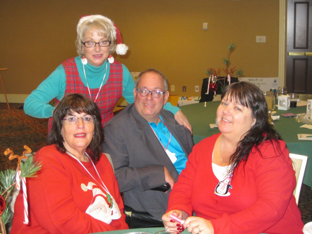 Sam Lieberman at a holiday event with others