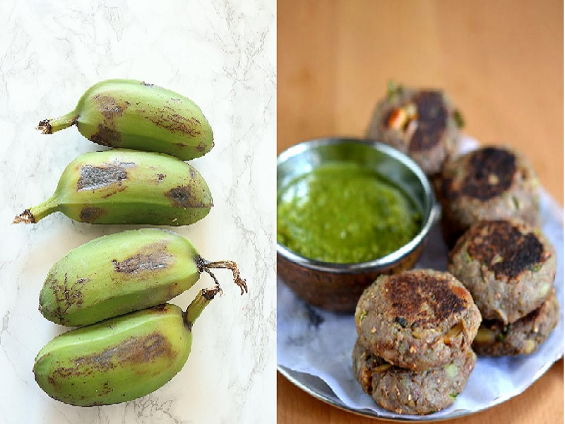 Raw Banana Tikki Recipe