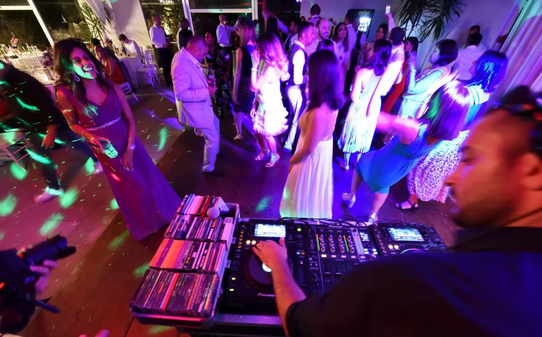Crowd Dancing at Wedding party Dj set - Tuscany Italy