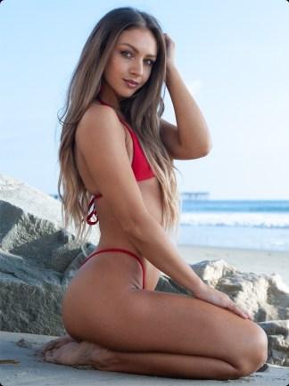 red micro g string bikini