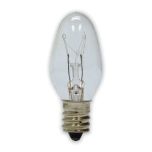 C7 Clear BLINKING Incandescent Pack of 25