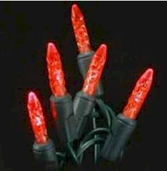 M5 70L Icicle Lights Red GREEN WIRE