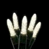 M5 70L Icicle Lights Warm White GREEN WIRE