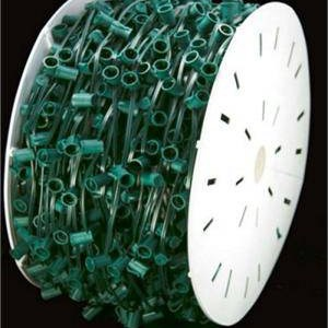 C7 Bulk Wire and Sockets - 12 inch spaced - 500ft