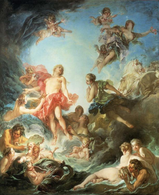 Rococo Art   Neli Todorova s blog Francois Boucher s  The Rising of the Sun