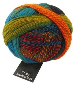 crazy zauberball sock wool shade no 1564