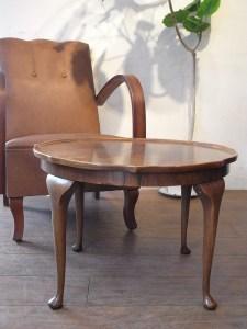 アンティーク イギリス製 コーヒーテーブル ローテーブル 丸テーブル ロイズアンティーク