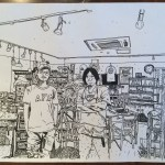 ヨシムラヒロム 店内 イラスト 手書き 写真 西荻ノースウエスト