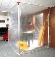 ZipWall Slp-4 rentals create a versatile dust-proof barrier in minutes