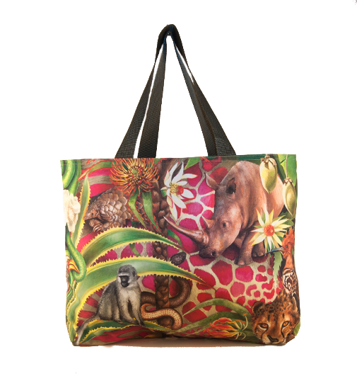 African Jungle: Cheetah / Rhino – Canvas Bag