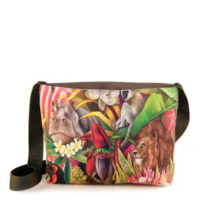 African Jungle: Lion / Hippo – Sling Bag