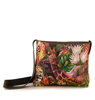 African Jungle: Giraffe/Leopard – Sling Bag