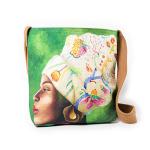 African Woman Floral Headpiece Sling Bag