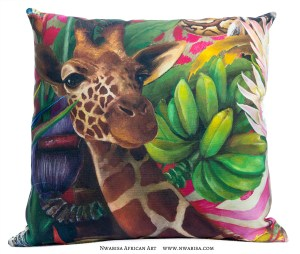 Pillow_African Jungle_Giraffe