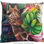 African Jungle: Giraffe Pillow Cover