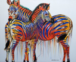 Zebra Pair Blue Orange