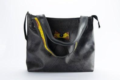 N&N Big Bag 2 Yellow bow front two straps 2000pix