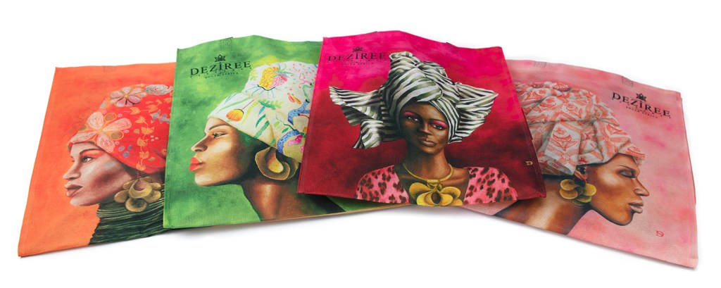 African Woman Shopper Recycled PET collection 4 designs_2